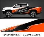 truck wrap design for company ... | Shutterstock .eps vector #1239536296
