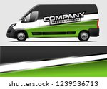 van wrap design for company ... | Shutterstock .eps vector #1239536713