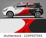 car wrap design for company ... | Shutterstock .eps vector #1239537343
