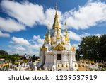 Golden And White Pagoda At Wat...