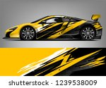 sport car racing wrap design.... | Shutterstock .eps vector #1239538009