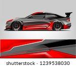 sport car racing wrap design.... | Shutterstock .eps vector #1239538030