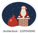 cartoon funny santa claus on...   Shutterstock . vector #1239543040