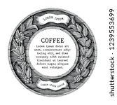 logo of coffee shop and coffee... | Shutterstock .eps vector #1239553699