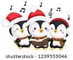 A Vector Of A Choir Of Penguin...