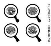 fingerprint under the...   Shutterstock . vector #1239563443