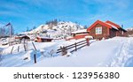 norwegian small mountain...   Shutterstock . vector #123956380