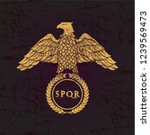 logo of the roman eagle on an... | Shutterstock . vector #1239569473