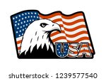 bald eagle symbol of north... | Shutterstock . vector #1239577540