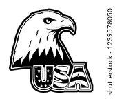 bald eagle symbol of north... | Shutterstock . vector #1239578050