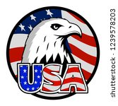 bald eagle symbol of north... | Shutterstock . vector #1239578203