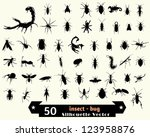 insect vector silhouette | Shutterstock .eps vector #123958876