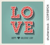 happy valentines day card  i... | Shutterstock .eps vector #123958924