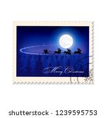 postage stamp christmas... | Shutterstock . vector #1239595753