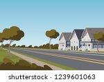 vector illustration road along... | Shutterstock .eps vector #1239601063