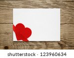 Valentine Card With Red Heart...