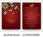 design template with xmas hand... | Shutterstock .eps vector #1239610000