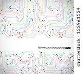 technology background. eps10... | Shutterstock .eps vector #123961534
