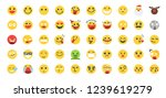 50 emoji icon set. included the ... | Shutterstock .eps vector #1239619279