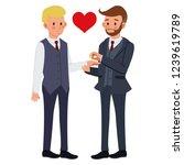 couple marriage  gay couple... | Shutterstock .eps vector #1239619789