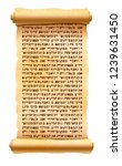 old textured papyrus scroll... | Shutterstock .eps vector #1239631450