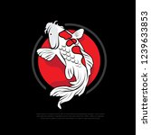 koi fish with red circle... | Shutterstock .eps vector #1239633853