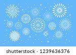 fireworks explosion.... | Shutterstock .eps vector #1239636376