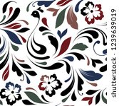 decorative floral pattern with... | Shutterstock .eps vector #1239639019