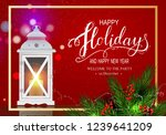 holidays greeting card for... | Shutterstock .eps vector #1239641209