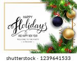 holidays greeting card for... | Shutterstock .eps vector #1239641533