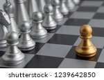 chess pieces on the chess board ... | Shutterstock . vector #1239642850