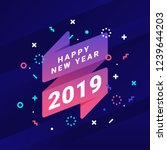 happy new year 2019 greating... | Shutterstock .eps vector #1239644203