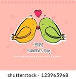 valentine's day | Shutterstock .eps vector #123965968