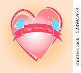 valentine's day | Shutterstock .eps vector #123965974