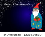 santa wishes merry christmas ... | Shutterstock .eps vector #1239664510