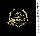 70 years design template.... | Shutterstock .eps vector #1239667750