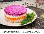 Stock photo new year s salad herring under a fur coat herring under a fur coat or simply under 1239676933