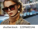 outdoor close up fashion... | Shutterstock . vector #1239683146
