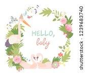 baby shower vector illustration....   Shutterstock .eps vector #1239683740