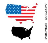 vector map of united states of... | Shutterstock .eps vector #1239685399