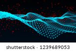 abstract polygonal space.... | Shutterstock . vector #1239689053
