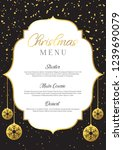 christmas menu background with...   Shutterstock .eps vector #1239690079