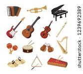 collection of musical... | Shutterstock .eps vector #1239692389