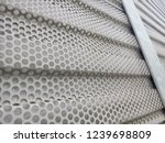metal surface. gray background. ... | Shutterstock . vector #1239698809