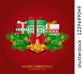 merry christmas and happy new... | Shutterstock .eps vector #1239699049