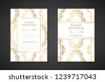 wedding invitation templates.... | Shutterstock .eps vector #1239717043