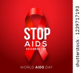 illustration of world aids day... | Shutterstock .eps vector #1239717193