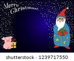christmas illustration with... | Shutterstock .eps vector #1239717550
