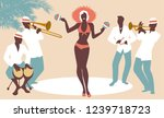 beautiful dancer playing... | Shutterstock .eps vector #1239718723