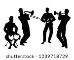 silhouettes of latin band. four ... | Shutterstock .eps vector #1239718729